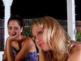 Bobbie and Bunny Luv, two sexy young girls, are satisfying one another's needs. They suck and lick each other before fucking a nice size dildo.