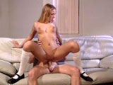 Felix Vicious, a cute blonde, is getting her pussy fucked by a guy with a big dick. She gives a real good BJ and cock riding that gets her a big sloppy facial.