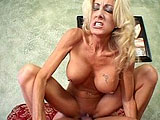 This scene features Lexi Carrington, and old cougar on the hunt.  She sucks her pray deep in her throat and rides him in her shaved, wet pussy.  Lexi devours the juices of her pray, satisfying her hunger.