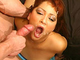 A redhead gets drenched in cock sauce, a black girl drinks and spits cum, a tight Asian pussy gets invaded ... this compilation movie has all the hot, nasty, hardcore blowjobs, cumshots and anal you can handle. The highlight is a DP scene with a moaning, busty blonde who ends up getting a double fac