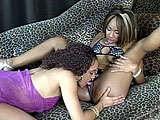 In this scene, Pleasure Bunny is horny, so she brings in her friend Shyla Haze.  Shyla eats her pussy, and Pleasure takes her turn and dining.  They work some 69 action and scissor fuck each other.  Both girls work a rabbit vibrator on the other until they are both satisfied.