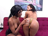 Nyomi Banxxx wants the feel of another woman and gets with Strokahontas.   These two ebony chicks lick each other and use all sorts of toys to get each other off.
