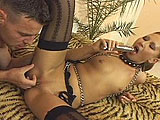 Watch out, Cheyenne Silver is a bit of a biter.  But this little whore is gentle when sucking cock.  She takes it deep in her mouth, and even deeper in her tight little twat.  After getting pounded hard, this little tramp gets a load of cum dumped in her mouth that she lets dribble out for her to ru