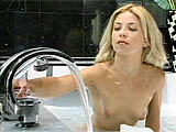 After Allyson Chaynes fills the tub with her favorite bubble bath, she begins to play.  She rubs her smooth body and plays with her clit to get herself off.