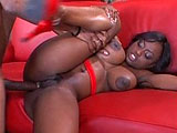 Jada Fire is lookin for some action.  She beckons over a black stud and he plays with her big tits and rubs her fleshy pussy.  Jada sinks to her knees and takes out his massive member to suck on and get it hard.  She takes that big ol dick deep in her pussy and asshole until the guy spews all over h