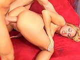 This scene features the sexy blonde, Trina Michaels.  He tits look great while she is bobbing on cock and riding it in her ass.  The guy licks and fingers her pierced pussy and then stuffs his cock deep in her tight ass.  Trina takes it hard and deep, and sucks her ass juice from the guys cock.  