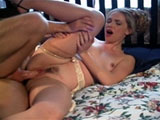 Hot blonde, Ava Vincent, is getting her fudge packed hard. She looks really good bouncing up and down on a large shaft and even hotter taking a massive load to the face.