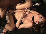 In this scene, T Girl Giselle sucks her man hard so he can stuff her in the ass.  He pounds away at her tight hole until they are both shooting their loads on her tits and stomach.