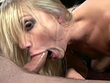 This scene features Aurora Snow.  After she teases and jams things up her pussy, she gets a cock to play with.  She gives a double handjob and sucks it deep in her throat.  The guy stuffs his cock in both of her fuck holes and blows his load in her waiting mouth.