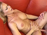 Nicole Moore is sweet but loud as they come. Her luscious, natural tits are big for a girl of her petite build. Although her guy's cock is limp at first, she gets his blood flowing with an expert, head bobbing beejer. Then she lowers her mature, but fit, frame onto his raging rod and slides her ex