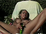 This scene features Lacey Duvalle playing solo.  She is outside by the pool for her playtime, stripping her bikini off.  After rubbing her clit, she breaks out the vibe to buzz her clit and finish the job.