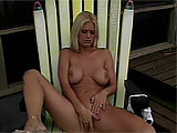 Amee Taylor relaxes on the porch by pulling her panties aside and fingering, her sweet, pink pussy.  She rubs one out, tasting her sweetness along the way.