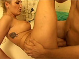 In that hospital bathroom, a naughty doctor starts getting it on with a horned up male nurse. He spends a lot of time with his face planted in her bald snatch, but another guy in scrubs shows up, kicking him out and taking over. The broad doesnt seem to mind the difference, closing her eyes and e