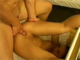 A mental patient is having too many wet dreams, so her therapist thinks a deep, through and nasty railing will cure her nocturnal emissions. He instructs a male nurse to have his way with her and they go at it. He mows away at her eager little twat and fingers her roughly. When hes not looking, s
