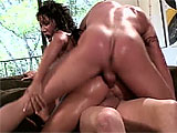 This Asian slut from Vegas has big chest globes and chats it up with the cameraman about all the fingers and cocks shes shoved up her ass in her day. What happens next is a sweaty, interracial fuck fest. A white guy and a black guy drill press the fuck out of her, slamming her in the asshole deep