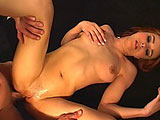 Cytherea is best known for her ability to squirt all over.  In this scene, she gets showcases her sucking and fucking talents to get the guy to squirt his jizz all over her face.