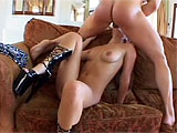 Roxy Jezel is an exotic whore that will give up her ass, but only for big dollars.  Well, she must be getting paid big, because she shoves a big dildo in and out of her ass, as well as lets her costar pound away at her small asshole.  This nasty sluts sucks her ass juice from his cock and drinks dow