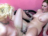 Raven and Mariah team up in this amateur scene.  They diddle each others pussies, and then go cunt to cunt with a double ended dildo.  These two fuck their toy until they wear themselves out.