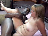 This scene has amateur Liisa with a case of jungle fever.  She gets with a black stud, sucking and stroking his cock.  They fuck on the floor until he pops off in the wrapper.