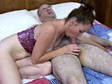 Nevaya is the featured amateur in this scene.  She is with a hairy guy on a bed that licks her tits and shaved twat to start things off.  She in turn gives him a blowjob.  Nevaya first mounts up for some reverse cowgirl, and then takes it from behind.  In the end the guy blows his load in the condom