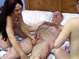 Kathy and Sarah are the two amateurs featured in this scene.  They share sucking dick and take turns riding the guy while the other rubs their clit.  While Kathy is getting fucked in mish, Sarah sits on her face and rubs Kathy's clit.  The guy blows his load on Kathy's stomach.