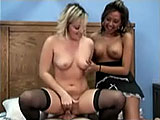 Christina and Lily are old high school friends.  They wanted to do some porn together and they molest the hairy geek together in this scene.  Both girls suck his dick and then Lily mounts up for a ride.  She gets in to doggie so she can eat her friend's sweet pussy while getting fucked from behind