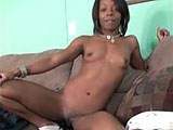 This ebony nympho is Anastasia.  She loves anal sex and plays with both girls and guys.  She is an equal opportunity fucker.  This is just her casting video, but she will be back to suck and fuck on film.