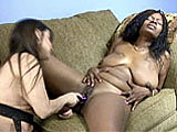 In this scene, new girl Honey is paired up with Vixen for some girl on girl play.  They stuff vibrators in each other's pussies to get themselves off.