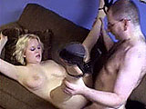 This is the first scene for busty Ava Monroe.  The guy gets out her big naturals to play with and then she sucks his dick.  He licks her shaved slit before they fuck.  Her tits flop around as she is pumped in the pink.  The guy pops off in the condom and then the scene cuts to him fucking another gi