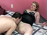 In this scene, big girl Rebecca Lee wants a little action.  Her man licks and diddles her fat pussy until she cums, and she returns the favor with some oral skills of her own.  They fuck in a couple positions and the guy deposits a load in the condom while pounding her from behind.
