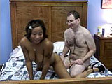 Stephanie was bribed to come back and have more sex with the hairy geek.  She was told she would get a toy, but she didnt realize that the geek was the only toy she would get.  Stephanie gives his dick a couple sucks and wants to get on with things to get them over with.  She needs to suck some m