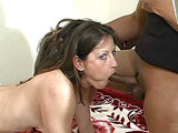 This smoking hot brunette wanted just a little taste of a black dick, but she got the whole thing! She then takes it in the ass before getting a huge load dropped on her ass cheeks!