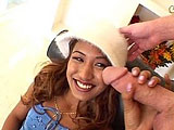 Lyla Lei is a cute and petite Asian chick that is only 19 years old.  She sucks and licks big dick before mounting up to ride it cowgirl and reverse.  Lyla licks her pussy juice off the guy's cock and asks to get fucked in her tight little teen ass.  She gets her asshole stretched out and takes a