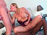 Julie Knight takes turns on sucking on two cocks, and gets drilled in her ass, followed by a lot of DP action! This bitch likes it hardcore, and will swallow every load thrown on her face!