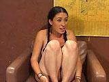 Hot brunette teen Demi wakes up naked in the middle of the jungle. Don't ask me how or why, she just does.  She meets a man who promises to get her home once she gets him off. The naked slut gets her clit licked before hoping aboard the meat express.  The lucky dude fucks her throat, pussy and ass