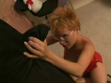 The premise of this clip fucking rocks! Hot redhead Emily Davinci is getting fucked by a big dick tooth fairy. First, he chases her around, and rips off her shirt.  When she discovers the tooth fairy has a monster cock, she's more than eager to give up her mouth and pussy. It's Excellent.