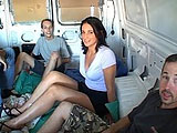 Skye Lee is the latest victim of the mobile gangbang group.  She is picked up on a street corner by the group of guys in their van while she is waiting for the bus.  They offer her a ride.  She accepts, thinking these guys are frome some kind of reality show.  She doesn't know that she will be getti