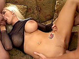 Trina Michaels and her stunning large breasts are a hard pair to satisfy.  The long ravaging of her holes by two hung guys will leave her torn for days on end. 