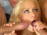 Gorgeous Stacy Silver is a very skilled cum slut. She takes an extensive double penetration beating, a dirty double stuff, and two face plastering cumshots.