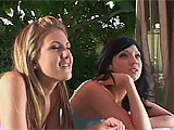 Ava Rose and Mia Rose are a pair of slutty teenage sisters from the valley.  Mia is the younger and more adventurous of the two, but both agree to fuck on film.  They are taken back to the location where they suck big cock and take it hard in their tight, teen twats.  Both guys take their turn pumpi
