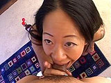 In this scene, Asian chick, Maja Lee licks hairy butthole.  She flicks her tongue all over this guys crack and hole, and then adds some flavor with a bottle of syrup.  Maja fingers his ass, trying to hit the prostate and milk him.  She sucks cock and gets a load stroked on her waiting tongue and 