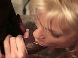A smoking blonde is ready to get it on, and doesnt even mind a big black cock. Tony shows up, impressed by her hot body and cant help but watch her play with her totally bald pussy. They move to the couch, laughing and getting along great, and he dives head first into her snatch. Then he gives