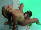 This hot girl on girl action has a sexy blonde and a hot redhead girl getting buck wild with one another. They take turns eating snatch and fucking each other with fingers, tongues, and a rather substantial selection of sex toys.