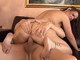 Anjelica Lauren gets her throat fucked by a big dick while she plays with her pussy.  She is pounded hard and takes cum in her pussy and mouth.