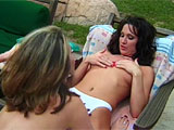 Wendi Knight and Melanie stone are a pair of Texas cuties that spend some quality time together.  Watch these two trollops eat each other's sweet pussies and stuff toys in their juicy holes.  Wendi takes a thumb in the ass while getting her pussy stuffed with a dildo, and then these two go vag-to-