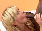Phyllisha Anne is a horny older chick that craves dick.  Here she goes after black cock.  She sucks it deep in her throat, and then gets her pussy stretched out.   In the end, she sucks and strokes a load out all over her face.