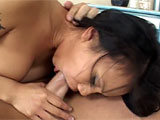This petite Asian is a whole lot of whore in a tiny little package. After playing with her pretty snatch for a while, a very horny guy shows up and shoves his cock in her throat, commanding her to choke on it and take it as deep as she can. Screaming with pleasure, she lets him toss her around the r