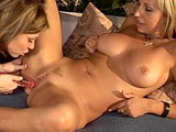 Gorgeous young blondes, Jesse and Natasha, are putting on a hot and steamy girl on girl show.  They start with a makeout session before stripping down to the buck to satisfy each other.  Once they have all the finger fucking and pussy licking out of their system, out comes their dildo. 