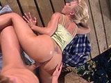 Betty Sue, a sexy little blonde, is on the hunt for a hard cock.  She finds all the hard cock she can handle down on the dock.
