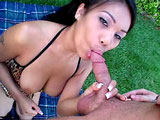 Lucy Thai is a sweet faced Asian fuck slut with a badass pair of titties.  Ms. Thai gets piped all kinds of beautiful ways.  In the end, she takes a cumshot right in her mouth, just like she asked for.